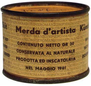 Merda d'artista (1961) – Piero Manzoni | Hybrid utterance