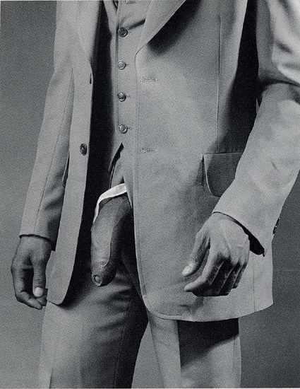 Man in polyester suit 1980