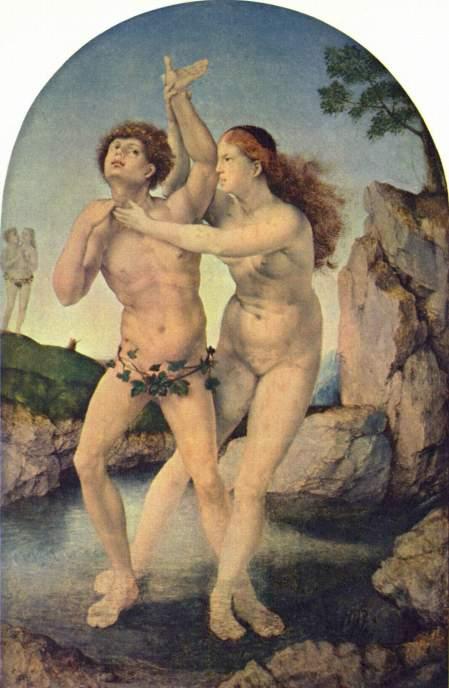 La metamorfosis de Hermafrodito y Salmacis (1520), Jan Gossaert  (Mabuse)