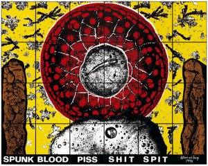 Gilbert and George - Spunk-blood-piss-shit-spit 1996