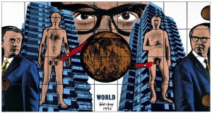 Gilbert and George - World from Shitty Naked Human World 1994