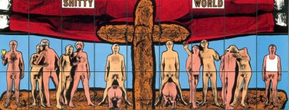 Gilbert & George - Shitty world 1994 Museo madre