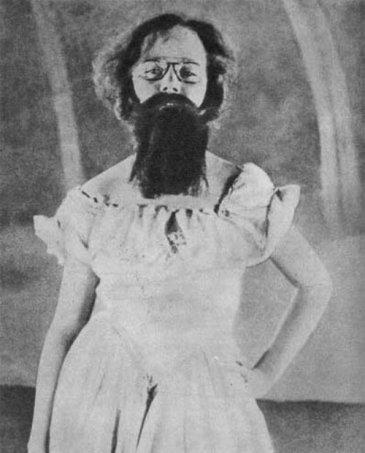 Francis Picabia as a ballerina in Entr'acte, 1924, a film by René Clair